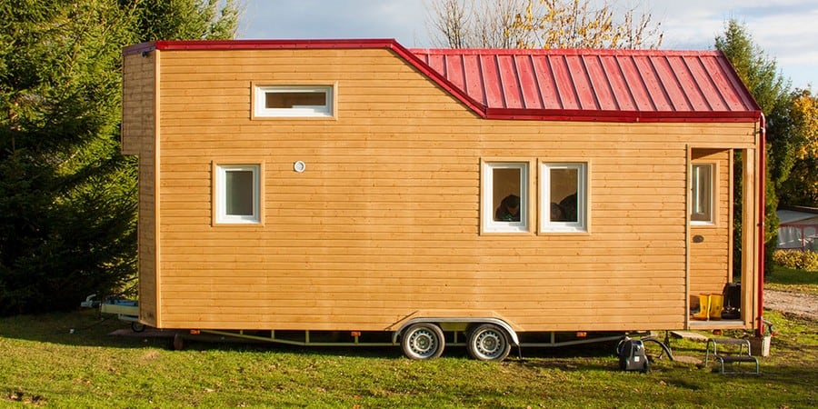 mobiles minihaus rolling tiny house immofux com immobilien portal. Black Bedroom Furniture Sets. Home Design Ideas